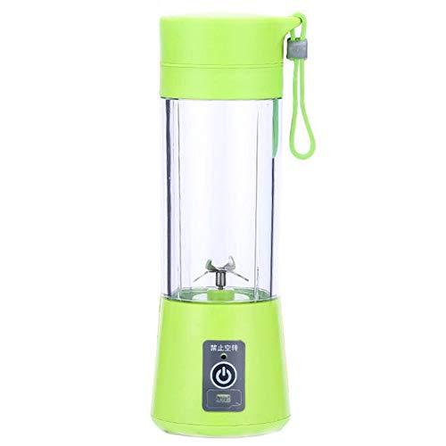 HshDUti 420 ml Tragbarer Mehrzweckmixer Wiederaufladbarer Kunststoff Entsafter Extraktionsapparat Grinder Crusher Green (Schleifer Für Weed Green)