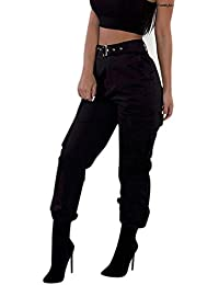 DEELIN Damen Cargohose Freizeithose Military Army Combat Solid Pants  Taschenhose 54b069bf49