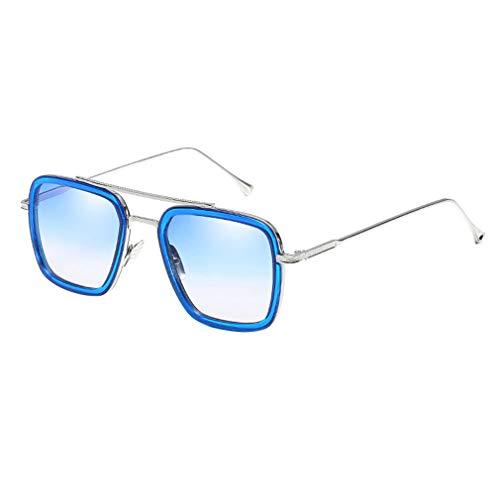 Yying Retro Männer Quadrat Sonnenbrille Mode Frauen Gradient Lens Brille UV400 Retro Vintage Sonnenbrille
