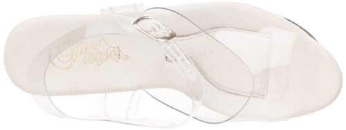 Pleaser Damen Treasure-708 Plateausandalen Transparent (Clr/Clr)