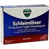 Wick Schleimlöser 75 mg Einmal Täglich Retardkapseln, 10 St
