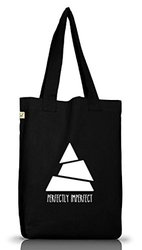 Perfectly Imperfect, Triangle Dreieck Jutebeutel Stoff Tasche Earth Positive (ONE SIZE) Black