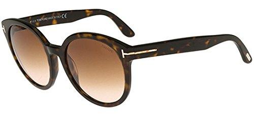 Tom Ford Philippa FT0503 C55 52F (dark havana / gradient brown) Sonnenbrillen