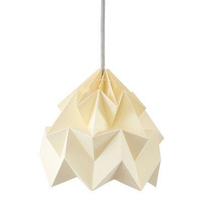 Petite Suspension Origami Jaune Canari Diam 20 cm Snowpuppe