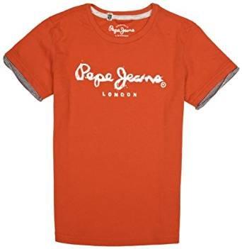 Pepe Jeans -  T-shirt - Logotipo - Collo rotondo  - Maniche corte  - ragazzo rosso 16 anni