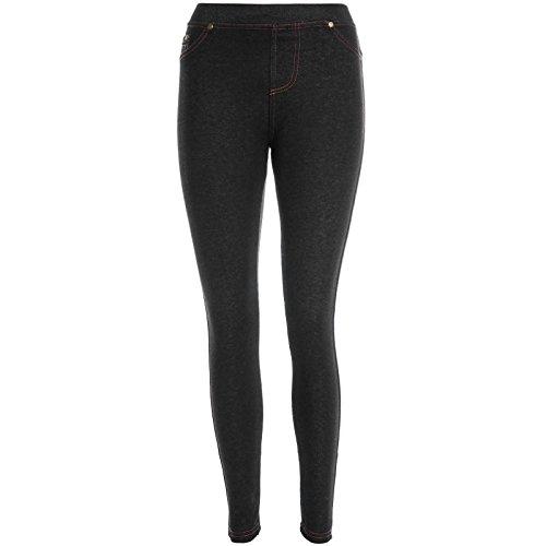 Damen Stretch Stoff Loose Hose Leggings Treggings Jeggings Röhre Skinny 20943, Hosengröße:L / XL;Farbe:Schwarz
