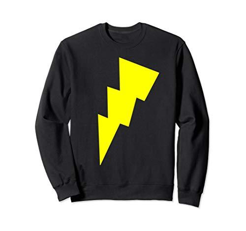 Kostüm Bolt Licht - Lustiges Cool Gelb Blitz Bolt Zeichen Lichter Race Running Sweatshirt