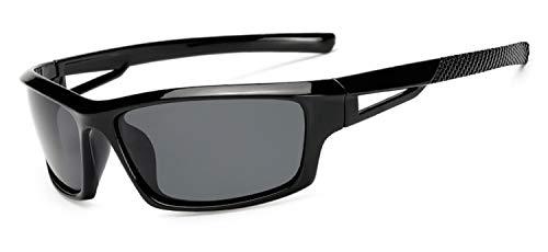AOCCK Sonnenbrillen,Brillen, Fashion Men Polarized Sunglasses Stylish Sun Glasses Male 100% UV400 Polarised Driving Goggle Style Eyewears KP1008 black