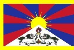 Tibet – The Snow Lion Drapeau 150 cm x 90 cm