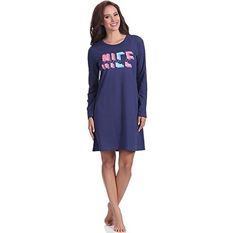Italian Fashion IF Camicia da Notte per Donna Nancy 0115