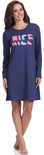 Italian Fashion IF Chemise de Nuit Femme Nancy 0115 Navy