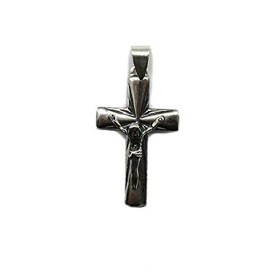 Pendentif en argent sterling solide 925 croix PE001340