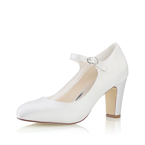 Mrs white 3421-5 scarpe da sposa scarpe col tacco donna,39 eu