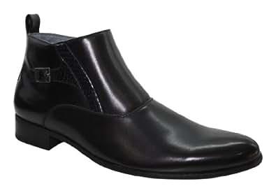 Boots bi matière homme avec boucle - Taille 45