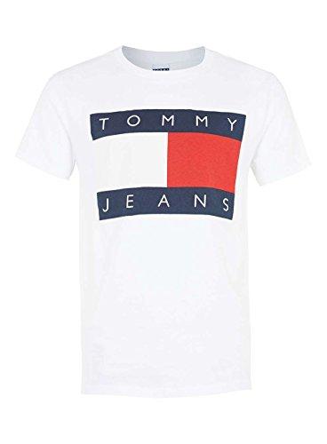 Tommy Hilfiger Denim Jeans 90´s Logo T-Shirt Herren Weiß