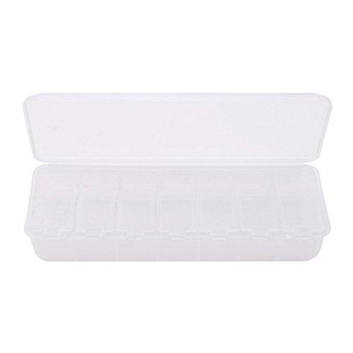 VWH Pillendose Organizer mit 7 Tage Pille Erinnerung 7 Fächer Tablettenbox (Weiß)
