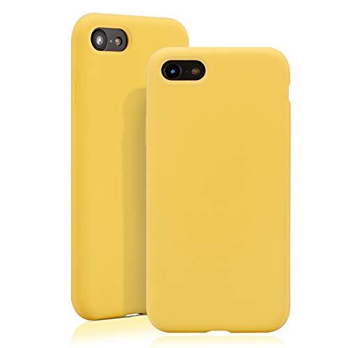 JMi [ Kompatibel mit Apple iPhone 7/8, in Gelb Originale Silikonhülle - Hochwertig, perfekte Verarbeitung - Schlichtes Silicone Case Iphone Silicon Case