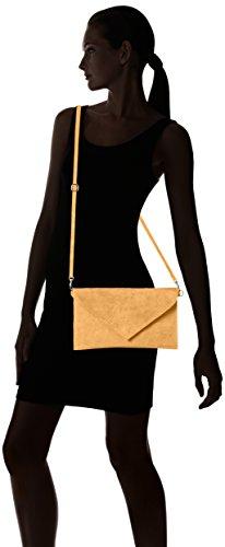 Bags4Less Venezia selvaggia Clutch / Borsetta da sera / Borsa donna in vera Pelle scamosciata (28cm Larghezza x 18 cm Altezza) Marrone (Cognac)