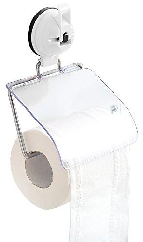 Euro Trail Toilettenpapierhalter mit Saugnapfhaken für Camping und Reisen (Weiß)