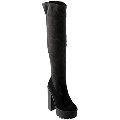 Eyekepper Coscia alta stivali sopra il ginocchio tacco lato cerniera