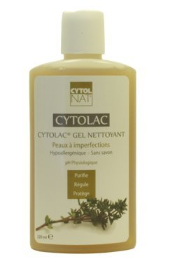 Cytolnat Gel Nettoyant Visage pour Peaux à Imperfections - Hypoallergénique et sans Savon - pH Physiologique