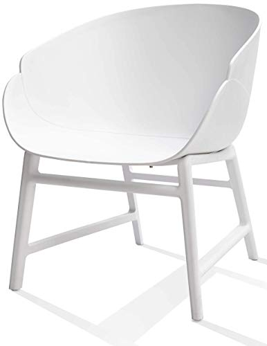Alex Lounge Fauteuil de lecture   Chaise de lecture   Chaise de salon Club  -  Blanc - PP plastique intérieur extérieur approprié   Chaises de jardin  Outdoor ... 92544e5f547d