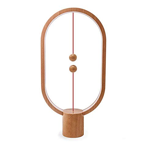 Air Switch 1-tisch-lampe (YLOVOW Balance Lampe - Schwebende Magic Mid-Air-Switch Magnetische Schreibtischlampe, USB-Powered Warm Eye-Care LED-Tischleuchte, Nachtlampe, Tischlampe,Brown)