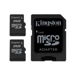 Kingston MicroSDCard 2X 2GB SDCard - Flash Card Twin Pack