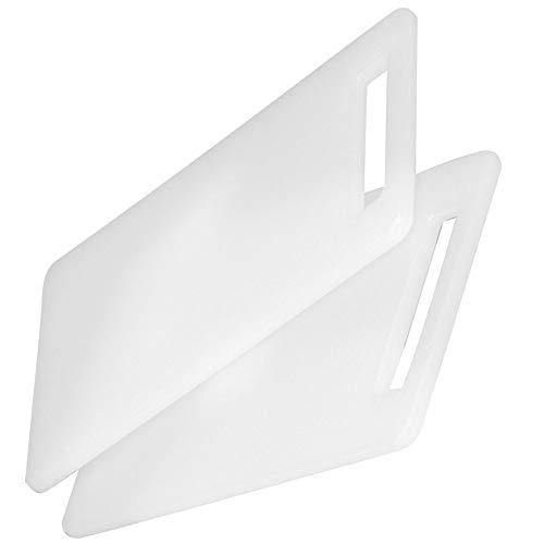 Del - tagliere da cucina in polietilene - tagliere anticisvolo lavabile in lavastoviglie - set di 2