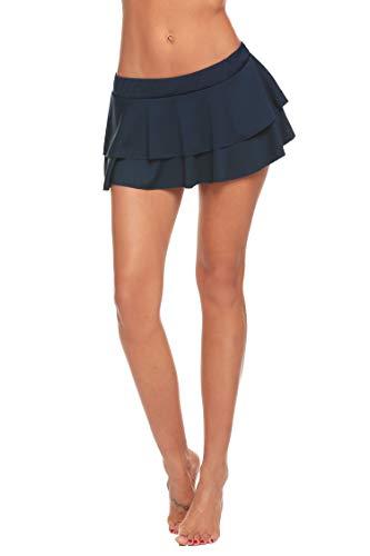 ADOME Damen Plaid Rock Minirock Schulmädchen Schulrock Schottenkaro Skirt Karierte Mini Röcke Cosplay Nachtwäsche