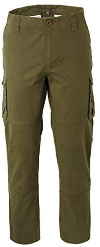 Pantaloni Verdi Uomo Cargo Da Lavoro Di Cotone Con Tasche Laterali A00901 (XL)