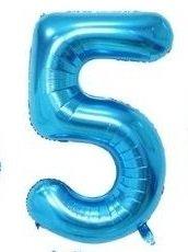SiDeSo® 1 Folienballon XXL BLAU Heliumgeeignet Party Geburtstag Jahrestag Hochzeitstag Jubiläum (Zahl 5)