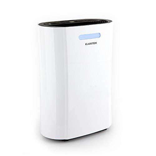 Klarstein AeroDry 10 Luftentfeuchter • Luftreiniger • Raumentfeuchter • 265 Watt • 10 Liter/Tag • 135 m³/h • für Räume bis 25 m² • programmierbar • DrySelect • nur 37 dB • Timer-Funktion • weiß