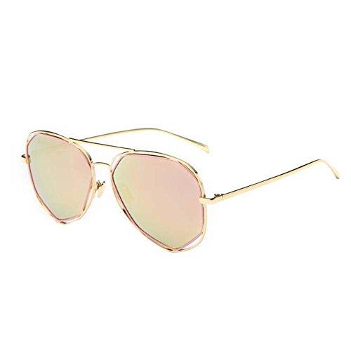 Black Temptation Street Fashion Katzenauge gespiegelt Anti-UVA Anti-UVB Metall Rahmen Sonnenbrillen