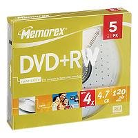 memorex-dvd-rw-120-minutes-47-gb-4x-slim-case-en-pack-de-5-pieces-00592-864614-05c
