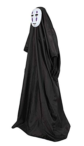 Kostüm Den Auf Eine Tabelle Kopf - CATHY DRESS LT Spirited Away No-Face Kaonashi Kostüm lila Maske Set Maske + Ärmel + Umhang Involved