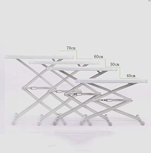 WLDD Kleiner Tisch Klapptisch IKEA Schreibtisch Platz Esstisch Einfache Computer Tisch Outdoor Tragbare Kleine Wohnung Verstellbare Hubtisch (Farbe : Beige)