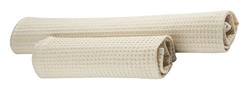 Set 12Stück Reinigungstuch mehr Gästehandtuch Wabenmuster beige 100% Baumwolle Made in Italy (12 Stück Baumwolle Bath)