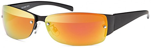 BEZLIT Herren Sonnenbrillen Bikerbrille Sonnenbrille Damen Flieger Wayfarer Rot