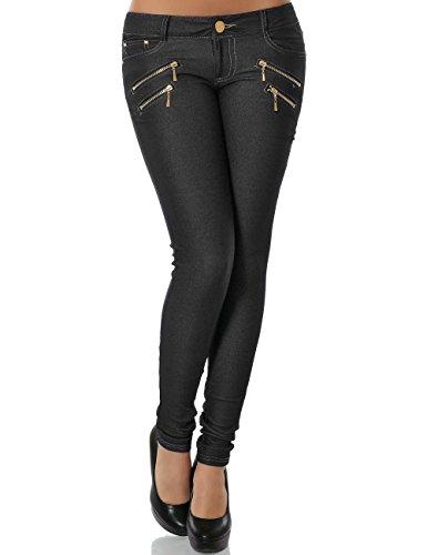 Damen Hose Skinny (Röhre weitere Farben) No 13302, Größe:S 36;Farbe:Schwarz