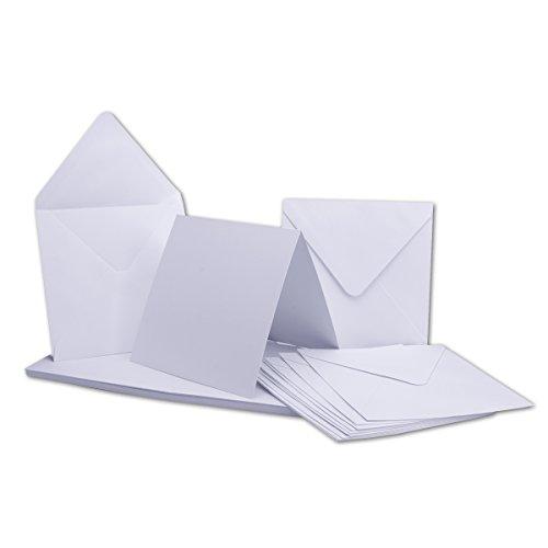 Quadratische Karten inklusive Briefumschläge | 50er-Set | Blanko Einladungskarten in hochweiß | bedruckbare Post-Karten | ideal zum Selbstgestalten & Kreieren | GUSTAV NEUSER C-Line
