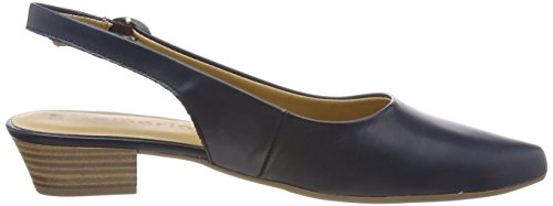 Tamaris Damen 29400 Slingback Sandalen Blau (Navy Leather)