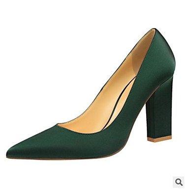 SHOESHAOGE Chaussures Femmes De Réconfort Printemps Pu Talons Talon Plat Pour Un Vert Rouge Green