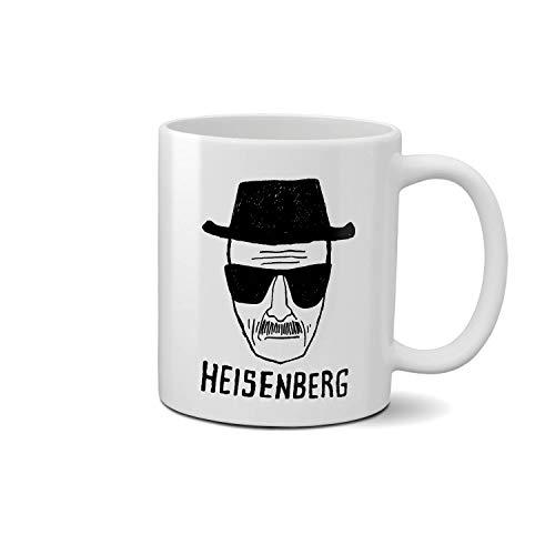 Breaking Bad Heisenberg Art Sketch Weißer Glanz Design Keramikbecher Milchkaffee Teetasse Geschenk 312ml Einzigartiges Geschenk