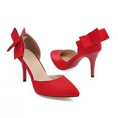 Talloni delle donne Primavera Autunno Dress Comfort in similpelle ufficio & carriera Stiletto Heel Casual Nero Rosso Beige Red