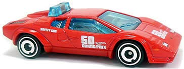 Hot Wheels 2018 50th Anniversary HW Exotics Lamborghini Countach Pace Car 217/365, Red