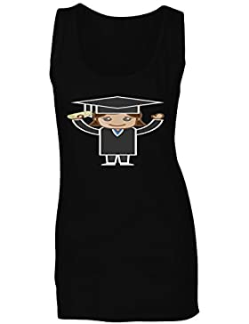 Mujer en graduación vestir graduado camiseta sin mangas mujer a441ft
