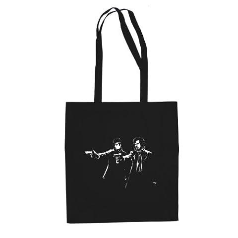 Sherlock Fiction - Stofftasche / Beutel, Farbe: schwarz (Watson Sherlock Holmes Kostüm)