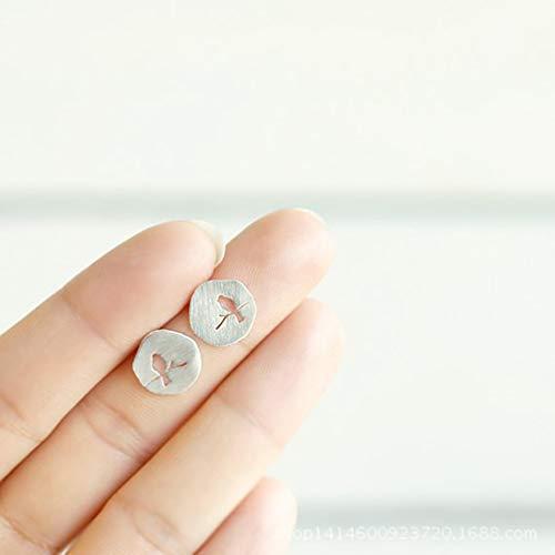CanVivi Ohrring Damen Ohrstecker Fashion Ohrschmuck Vogel Pattern Ohrringe Good Silber