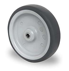 Set di 2 ruote da incasso Cascoo, 150 mm, asse elettrico T.P.E. Cuscinetto scorrevole ruote per trasporto ruote asse